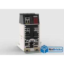 NOTICE DE MONTAGE NILLBRICKS LEGO MAISON DE VILLE 7 NOIRE : NM00356