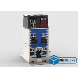 NOTICE DE MONTAGE NILLBRICKS LEGO MAISON DE VILLE 9 BLEUE : NM00358