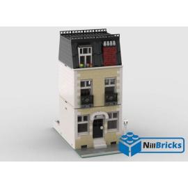 NOTICE DE MONTAGE NILLBRICKS LEGO MAISON DE VILLE 12 BEIGE : NM00361